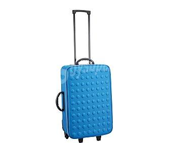 PRODUCTO ECONÓMICO ALCAMPO Maleta flexible color azul, 2 ruedas, 60 centimetros 1 Unidad