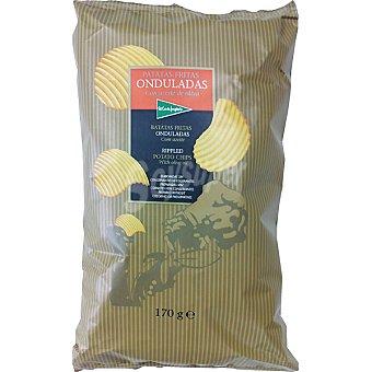 El Corte Inglés Patatas fritas onduladas con aceite de oliva Bolsa 170 g