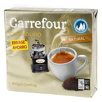 Carrefour Café molido natural Pack de 2x250 g