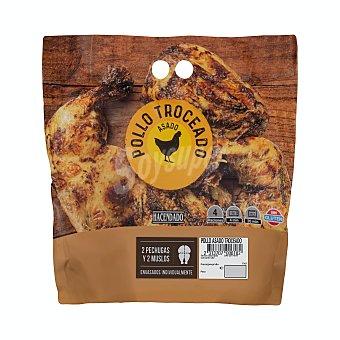 Hacendado Pollo asado troceado Paquete 1.3 kg aprox