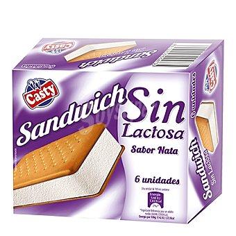 Casty Sandwich helado de nata sin lactosa 6 unidades