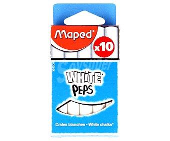 Maped Caja con 10 tizas de color blanco maped 10u