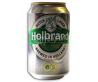 HOLBRAND Cerveza Holandesa de Importación Sin Alcohol Lata 33cl