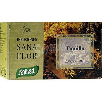 Santiveri Sanaflor infusiones de tomillo Estuche 20 bolsitas