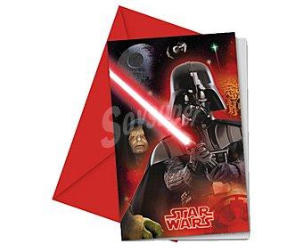 Star Wars Invitaciones de papel con sobres con diseño Star Wars & Heroes, Pack de 6 unidades