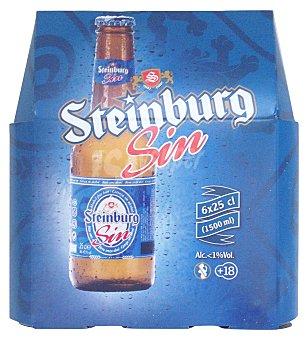 Steinburg Cerveza rubia sin alcohol Botellin pack 6 x 250 cc - 1500 cc