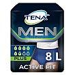 Pants Active Fit Plus talla L (50-56) para hombres 8 ud Tena