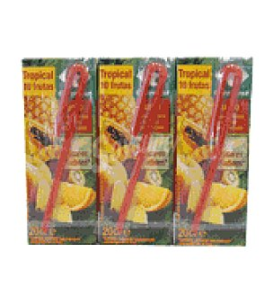 Carrefour Zumo tropical Pack de 3 uds