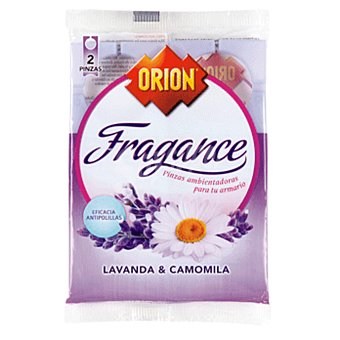 ORION Fragance Pinza antipolillas ropa limpia Bolsa 2 unidades