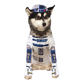 Rubie's Disfraz Rubies para perros Stars Wars R2-D2 Blanco / Azul M
