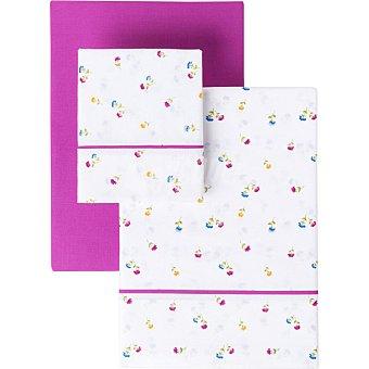 CASACTUAL Watercolor juego de sábanas estampado flores para cama 90 cm