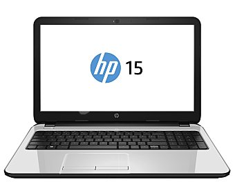 "HP Ordenador portátil con pantalla de 15.6"", procesador: Intel Core i5-4210U, Ram: 6GB, Disco duro: 1TB, gráfica: Intel HD 4400, Webcam, Windows 10. Peso: 2.19Kg. Color plata blanco 15,6"" 15-ac138ns"