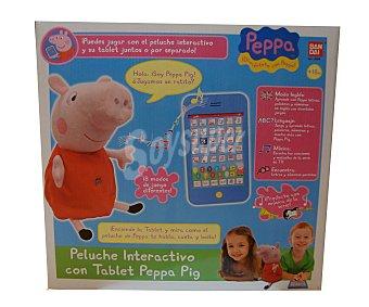 Bandai Peluche Peppa Pig interactivo+tablet 1 Unidad