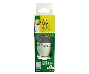 Productos Económicos Alcampo Bombilla led vela de 4,8 Watios, con casquillo E14 (fino) y luz fría alcampo