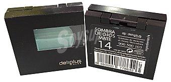 Deliplus Sombra de ojos nº 14 verde esmeralda mate  1 unidad