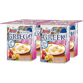 Kalise yogur griego light con mango paack  4 unidades 125 g