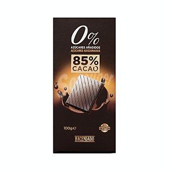 Hacendado Chocolate negro 0% azucares añadidos (85% cacao) Tableta 100 g
