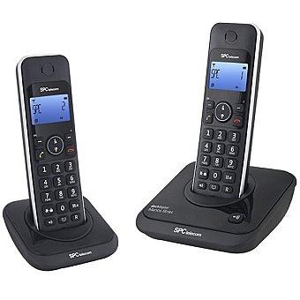 SPC TELECOM Teléfono inalámbrico Dect Duo en color negro 7244N 1 Unidad