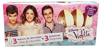 Hacendado Huevo chocolate sorpresa trolls Caja 3 u