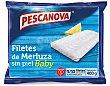 Filetes de merluza baby bolsa 400 g neto escurrido Pescanova