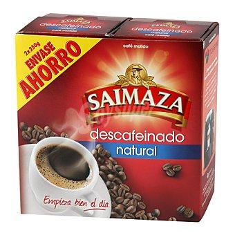 Saimaza Café descafeinado molido natural Pack de 2x250 g