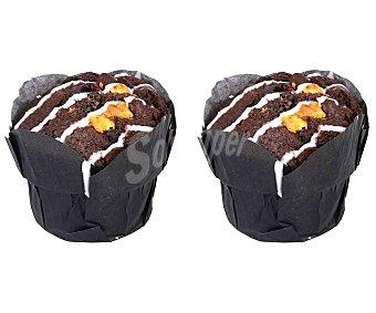 Muffins de triple chocolate, 2 uds. 2 uds