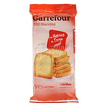 Carrefour Biscottes normales Carrefour 100 ud
