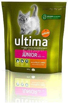 Ultima Affinity Alimento para gatos rico en pollo y arroz Health Cat Junior Paquete 800 g