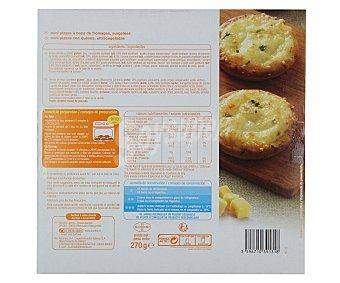 Auchan Mini pizzas con sabor a 3 quesos 9 unidades (270 gramos)
