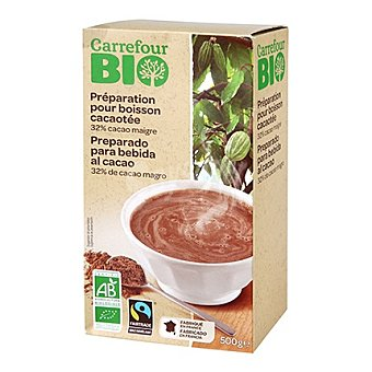 Carrefour Bio Preparado para bebida de cacao 500 g