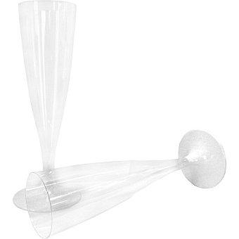 Casactual Copa flauta con pie blanco Paquete 6 unidades