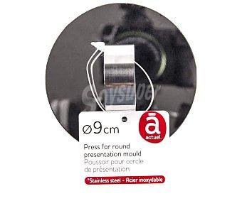 Actuel Empujador de acero inoxidable para molde redondo de 9cm. de diámetro actuel
