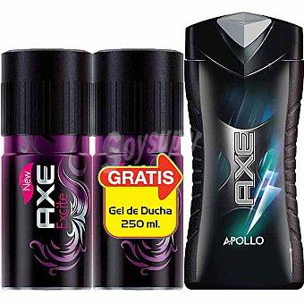 AXE desodorante Excite + regalo gel de baño Apollo frasco 250 ml pack 2 spray 150 ml
