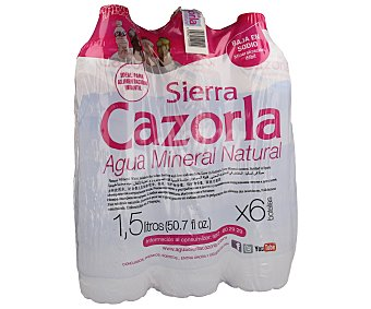 Sierra de Cazorla Agua mineral Botella de 1,5 litros pack de 6