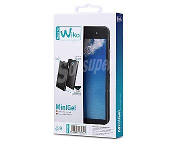 Muvit Funda trasera Minigel, transparente, compatible con smartphone Wiko Fever