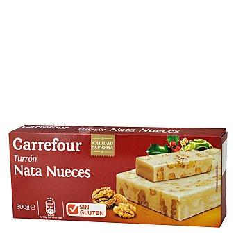 Carrefour Turrón de nata y nueces 300 g