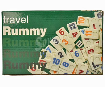 AQUAMARINE GAMES Juego de mesa de habilidad Rummy Travel, de 2 a 4 jugadores 1 unidad