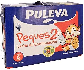 Puleva Leche de continuación 2 desde los 6 meses del bebé Pack de 6 unidades de 1 litro