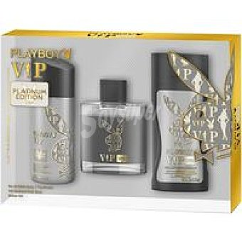 Playboy Fragrances Man edt+deo Vip Black