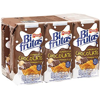 Bifrutas Pascual Zumo y leche choco-cereales Pack 6x200 ml