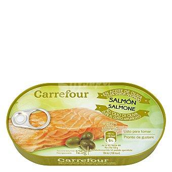 Carrefour Filetes de salmón ahumado en aceite de oliva 125 g