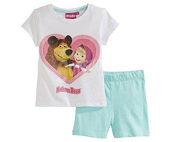 Masha y el Oso Pijama corto de niña talla 6.