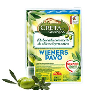 Creta Granjas Salchichas Wieners pavo 200 g