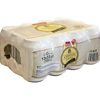 Aliada Cerveza rubia nacional pack 12 lata 33 cl Pack 12 lata 33 cl