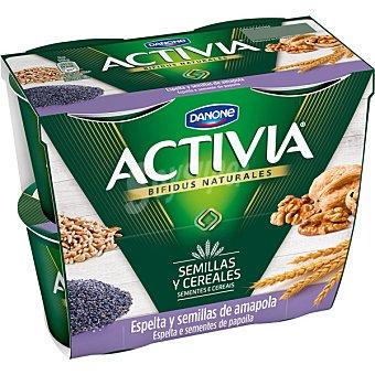 Activia Danone Yogur con sabor a higo pack 4 unidades 125 g Pack 4 unidades 125 g