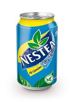 NESTEA Refresco de te al limon sin azucar lata 33 LATA 330 cc