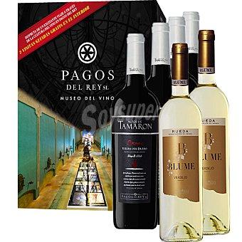 ALTOS DE TAMARON Pagos del Rey vino tinto reserva D.O. Ribera del Duero caja 4 botellas 75 cl +blume vino blanco verdejo D.O. Rueda 2 botellas de 75 cl+visita gratis 4 botellas 75 cl