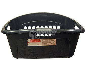 Auchan Cesta de plástico color negro para ropa, auchan 45 litros