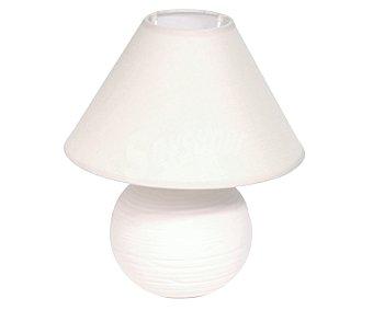 DUPI Lámpara de sobremesa modelo Anais de color marfíl para bombillas con casquillo E14 hasta 40 Wattios 1 unidad
