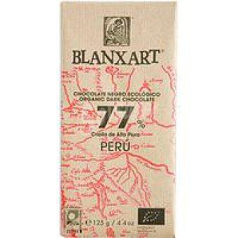 BLANXART Chocolate negro 77% peru ecológico 1 u